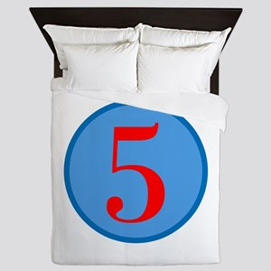 Number Five Birthday Queen Duvet