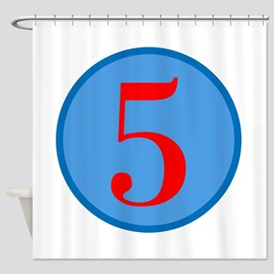 Number Five Birthday Shower Curtain