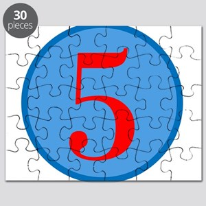 Number Five Birthday Puzzle
