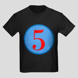 Number Five Birthday Kids Dark T-Shirt