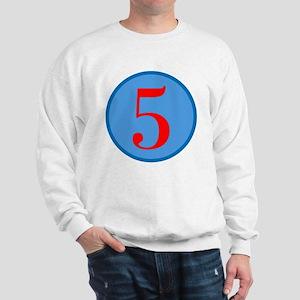 Number Five Birthday Sweatshirt