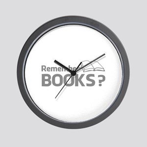 Remember Books ? Wall Clock