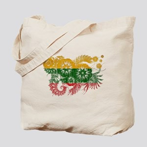 Lithuania textured flower aged copy Tote Bag