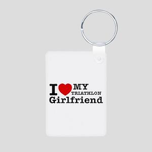 Cool Triathlon Girlfriend designs Aluminum Photo K
