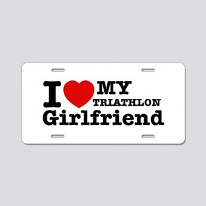 Cool Triathlon Girlfriend designs Aluminum License