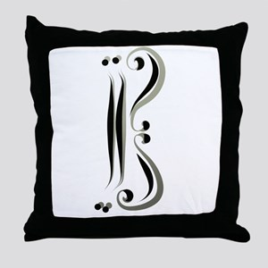 Alto Clef br Caligracat Throw Pillow
