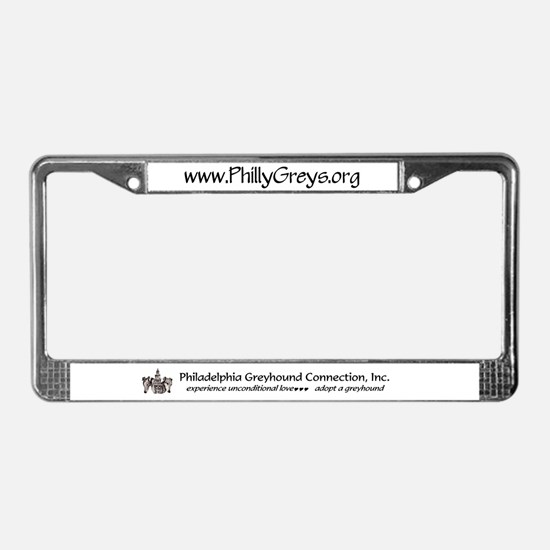 Unique Philadelphia greyhound connection License Plate Frame