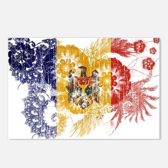 Moldova Flag Postcards (Package of 8)