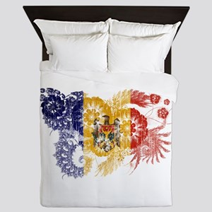 Moldova Flag Queen Duvet