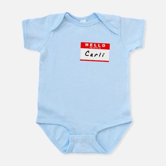 Carli, Name Tag Sticker Infant Bodysuit