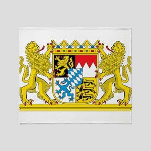 Bavaria Coat Of Arms Throw Blanket