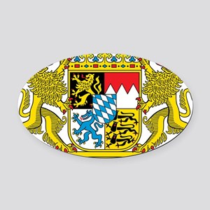 Bavaria Coat Of Arms Oval Car Magnet