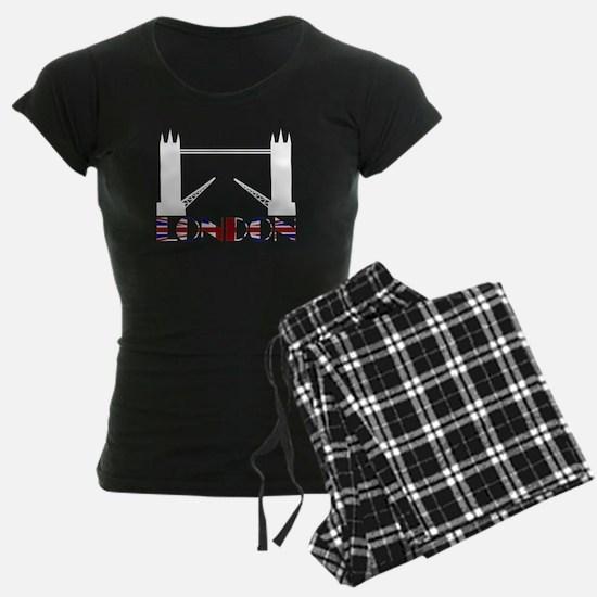 London Tower Bridge Union Jack Pajamas