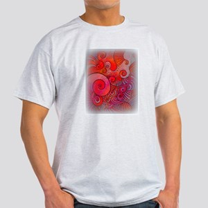 red abstract spiral Light T-Shirt