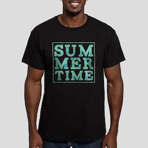 Summertime Print Men's Fitted T-Shirt (dark)