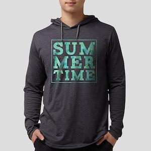 Summertime Print Mens Hooded Shirt