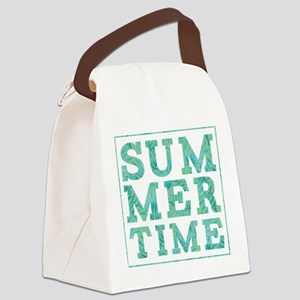 Summertime Print Canvas Lunch Bag