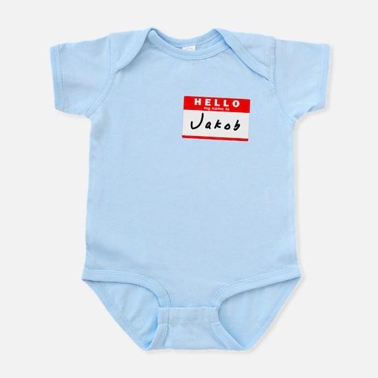 Jakob, Name Tag Sticker Infant Bodysuit