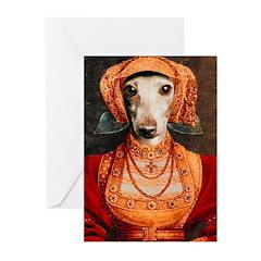 Elizabethan Italian Greyhound Cards (Pk of 10