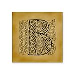 Celtic Letter B Square Sticker 3
