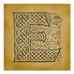 Celtic Letter E Square Car Magnet 3