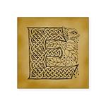 Celtic Letter E Square Sticker 3