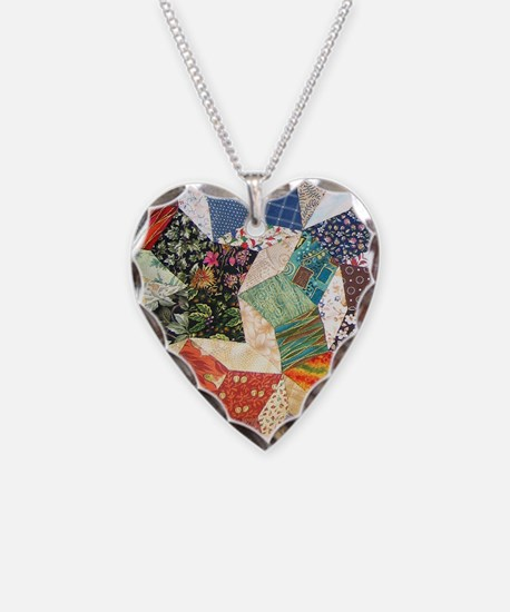 Tumbling Block Patchwork Quilt Necklace