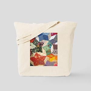 Tumbling Block Patchwork Quilt Tote Bag