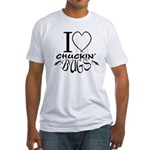 I Love Chuckin Bugs Fitted T-Shirt