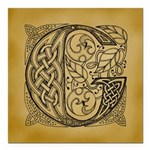 Celtic Letter G Square Car Magnet 3