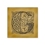 Celtic Letter G Square Sticker 3