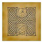 Celtic Letter H Square Car Magnet 3