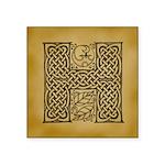 Celtic Letter H Square Sticker 3