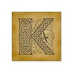 Celtic Letter K Square Sticker 3