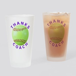 Softball Coach Thank You Unique Gifts Drinking Gla