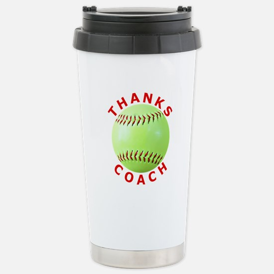 Softball Coach Thank You Unique Gifts Stainless St