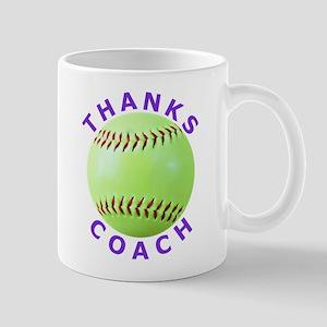 Softball Coach Thank You Unique Gifts Mug