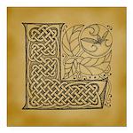Celtic Letter L Square Car Magnet 3
