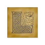 Celtic Letter L Square Sticker 3