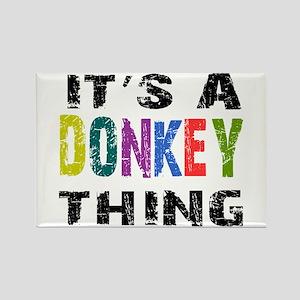 Donkey THING Rectangle Magnet
