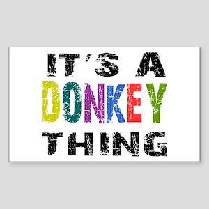 Donkey THING Sticker (Rectangle)