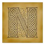 Celtic Letter N Square Car Magnet 3