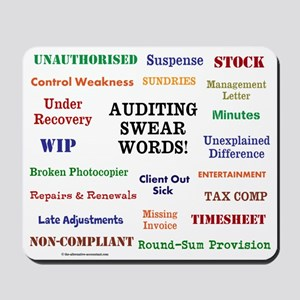 Funny Auditor Gift - Auditing Swear Words Mousepad