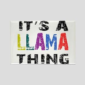 Llama THING Rectangle Magnet