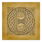 Celtic Letter O Square Car Magnet 3