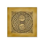 Celtic Letter O Square Sticker 3