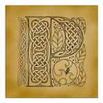 Celtic Letter P Square Car Magnet 3