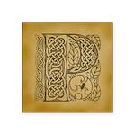 Celtic Letter P Square Sticker 3