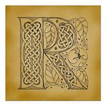 Celtic Letter R Square Car Magnet 3