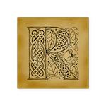 Celtic Letter R Square Sticker 3